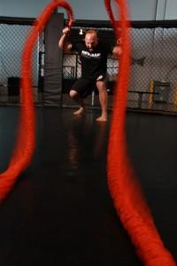Battle rope energieverbruik