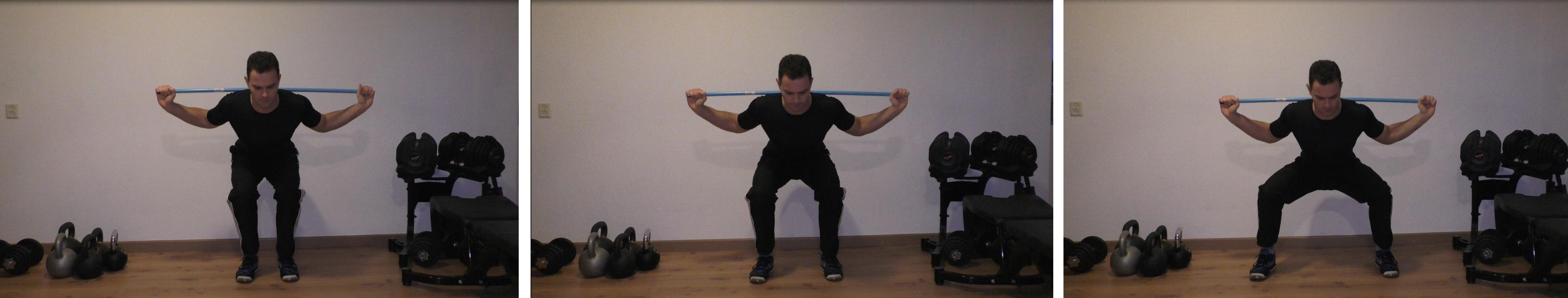 Voetbreedte squats